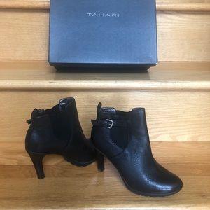 Tahari black bootie shoe